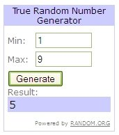 Random.org - Eyeball Winner