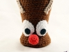 Brewdolph : The Red Nosed Rein-beer Pilsner Glass Cozy