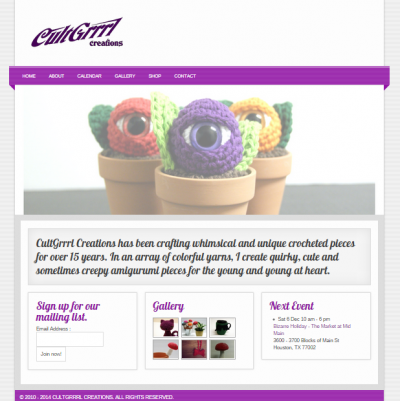 CultGrrrl Creations Website
